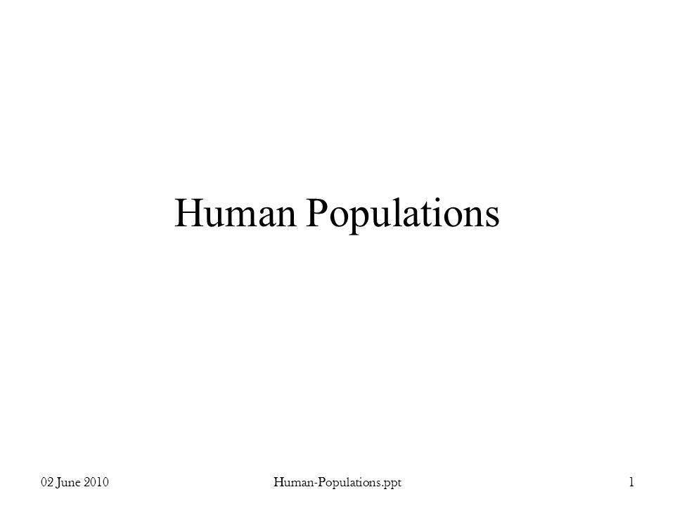 Human Populations 02 June 20101Human-Populations.ppt