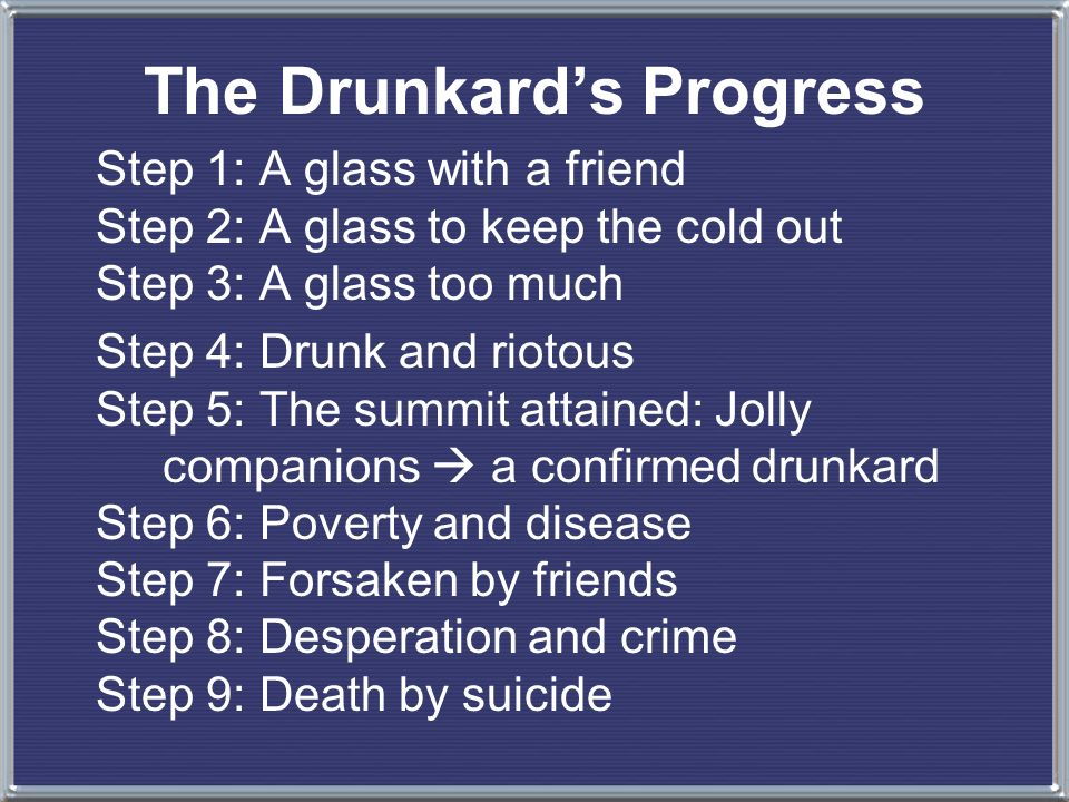 From the first glass to the grave, 1846 The Drunkards Progress