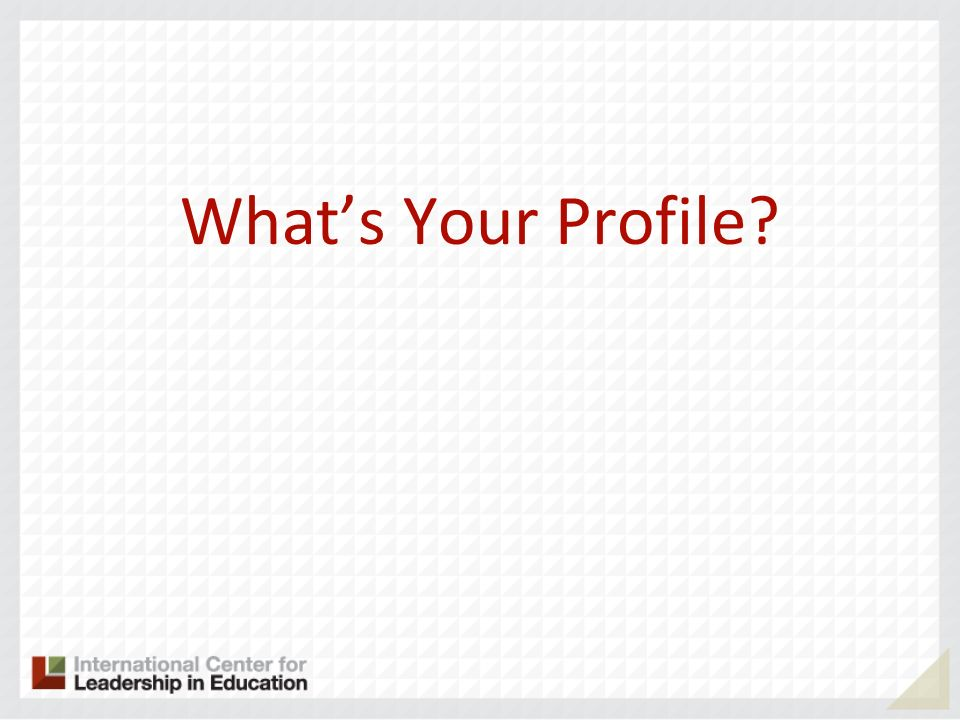 Whats Your Profile