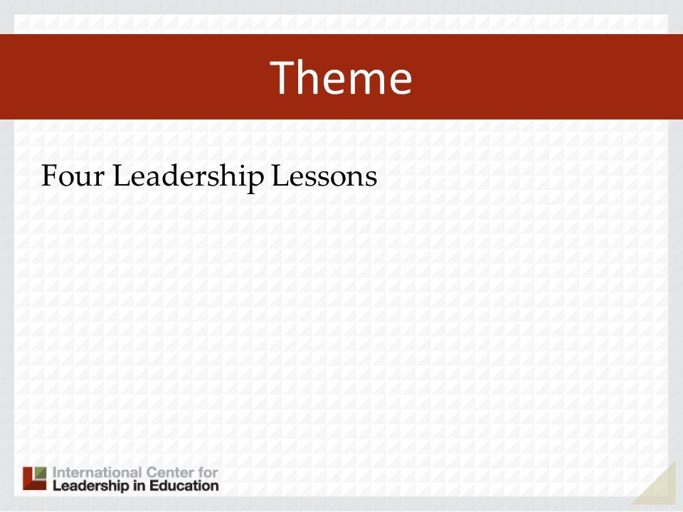 Theme Four Leadership Lessons