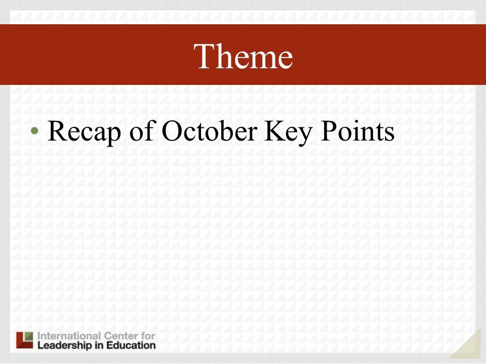 Theme Recap of October Key Points