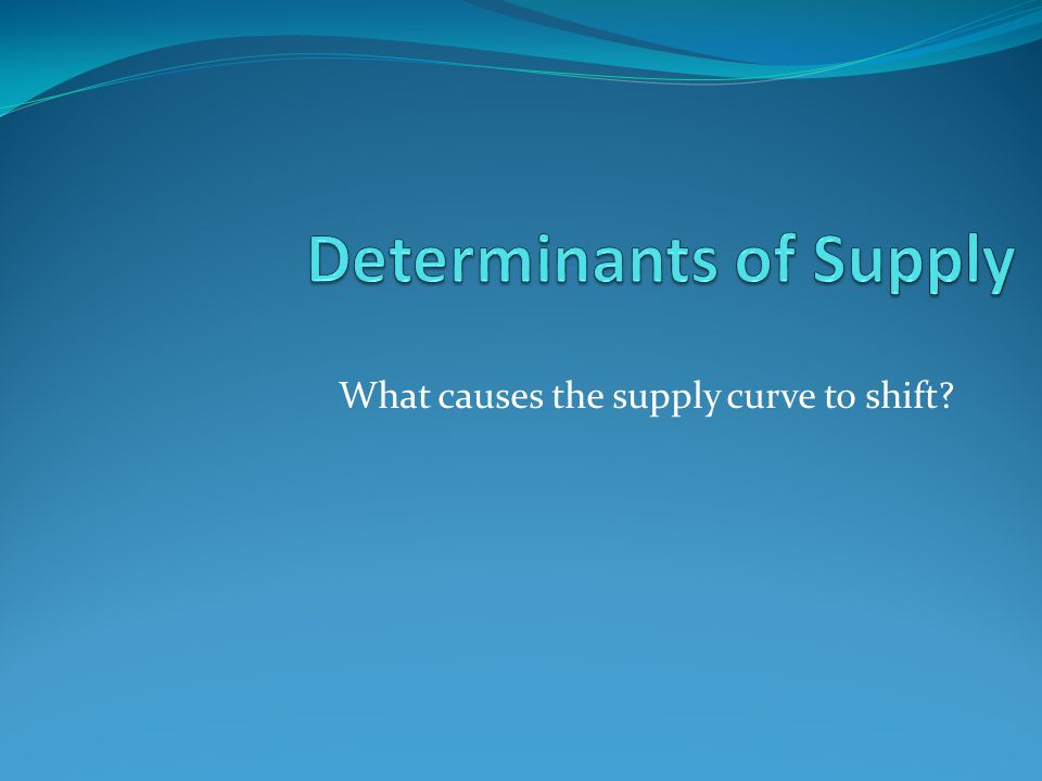 What causes the supply curve to shift