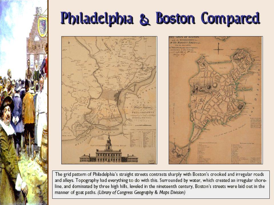 Philadelphia & Boston Compared