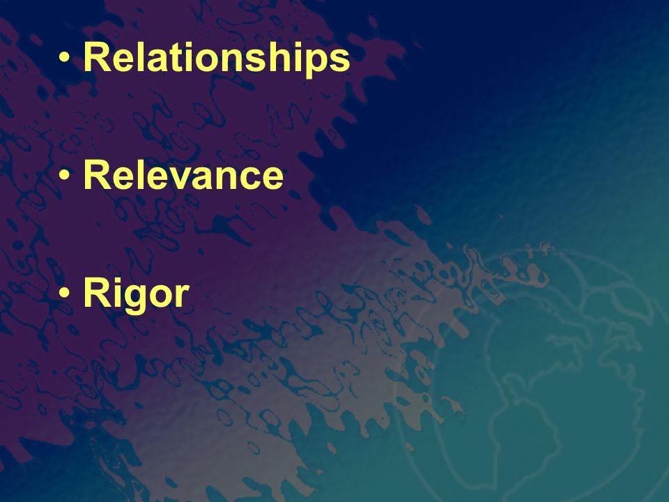 Relationships Relevance Rigor