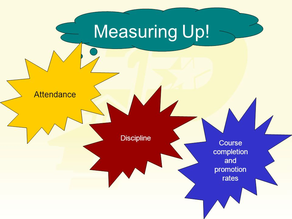 Measuring Up! Attendance Discipline Course completion and promotion rates