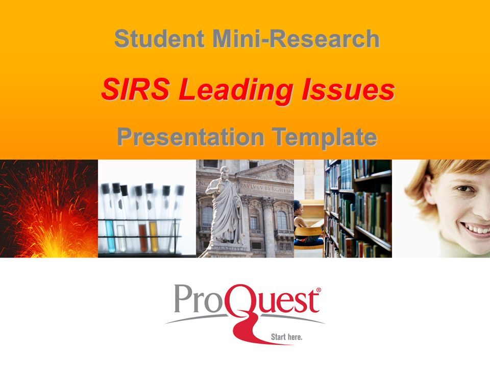 1 Student Mini-Research SIRS Leading Issues Presentation Template