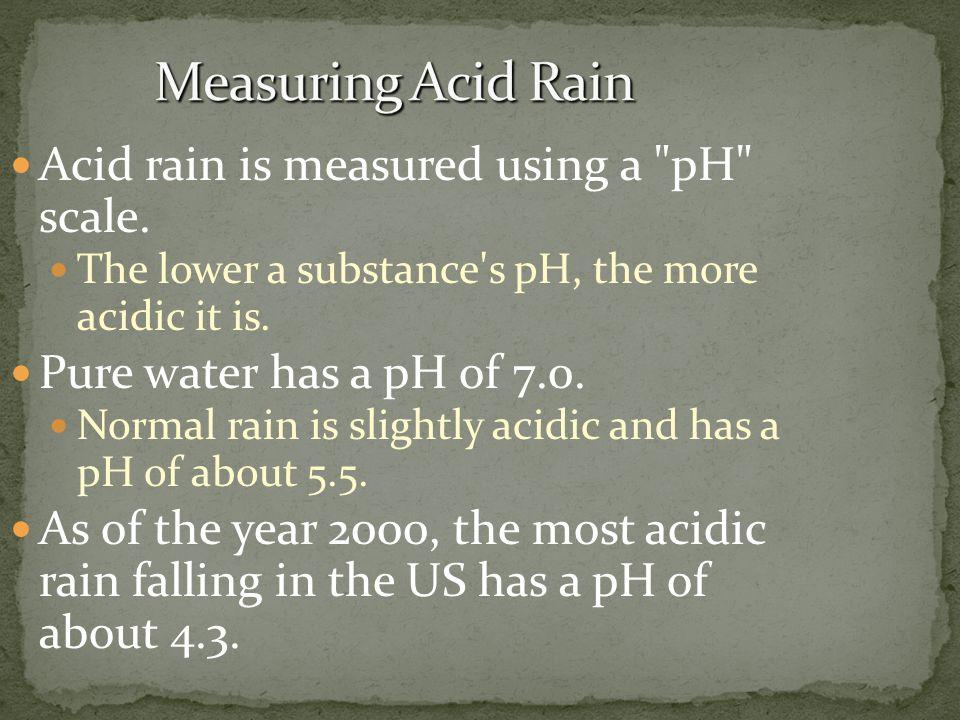 Acid rain is measured using a