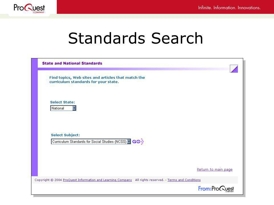 Standards Search