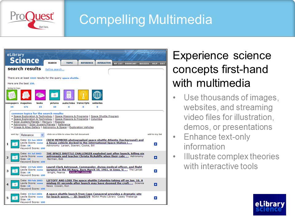 Compelling Sources Websites Videos Images