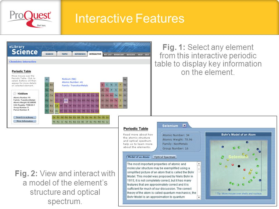 Interactive Features Fig.