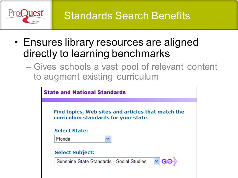 Standards Search Basics Launch state, national, and Canadian Provincial standards searches from eLibrarys Advanced Search link Use Local Configuration to customize standards display and workstation access Advanced Search