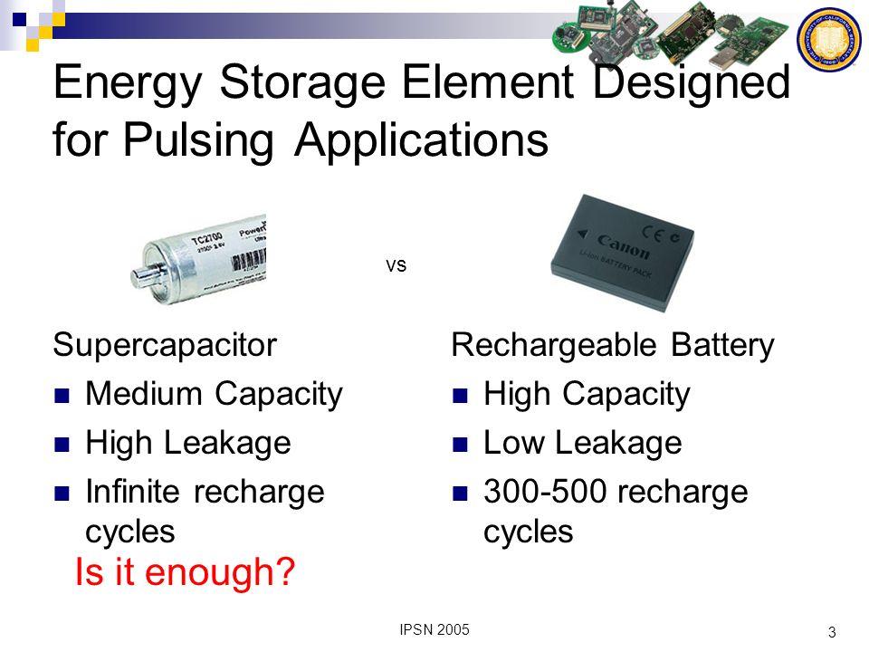 4 IPSN 2005 Multi-Stage Inefficient and complex hardware.