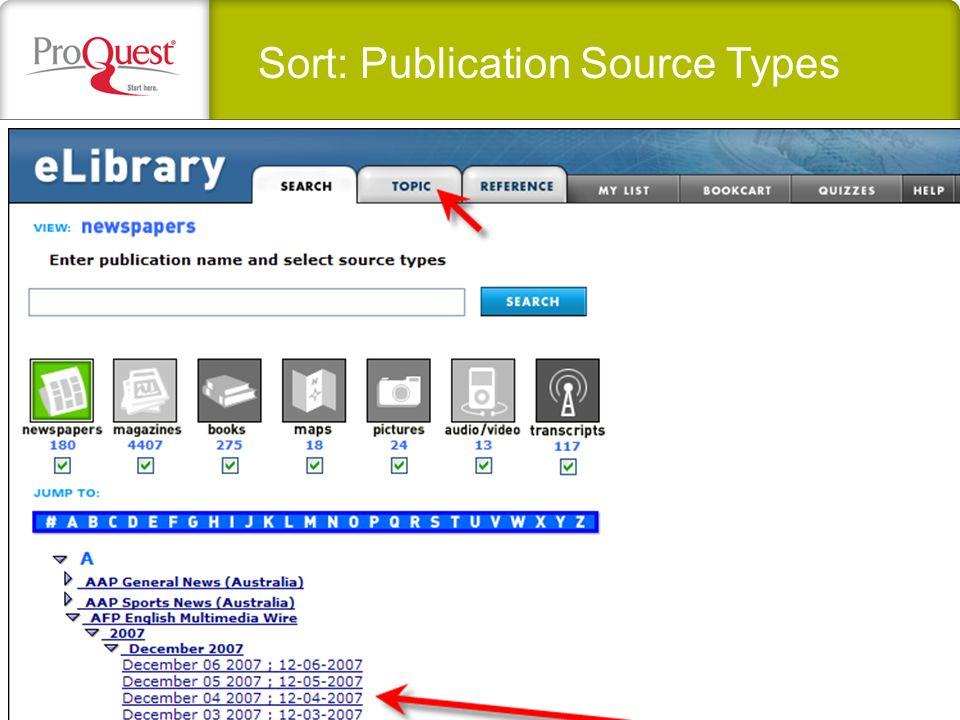 Sort: Publication Source Types