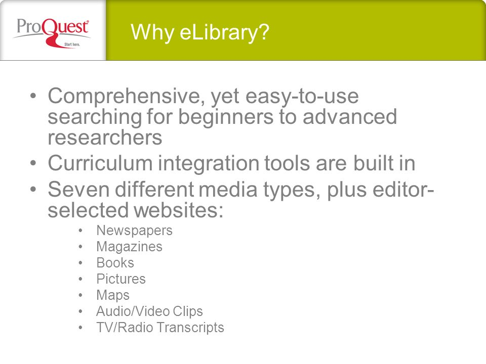 Why eLibrary.