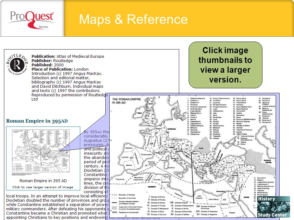 Maps & Reference Click image thumbnails to view a larger version.