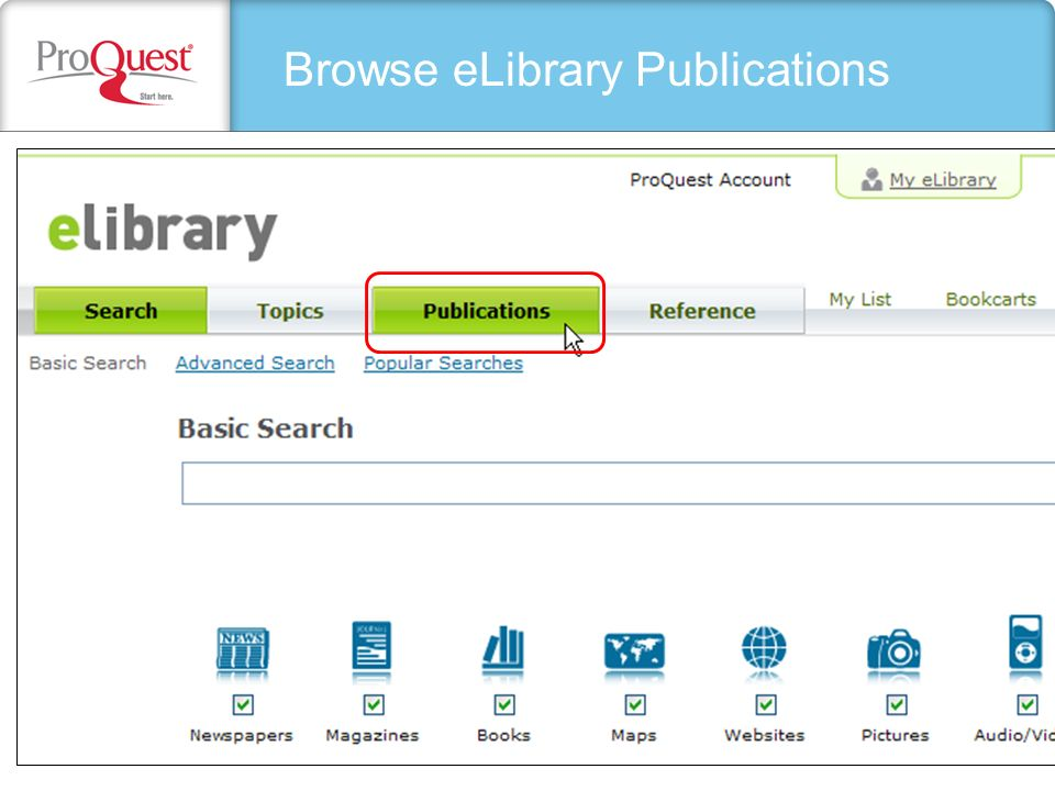 Browse eLibrary Publications