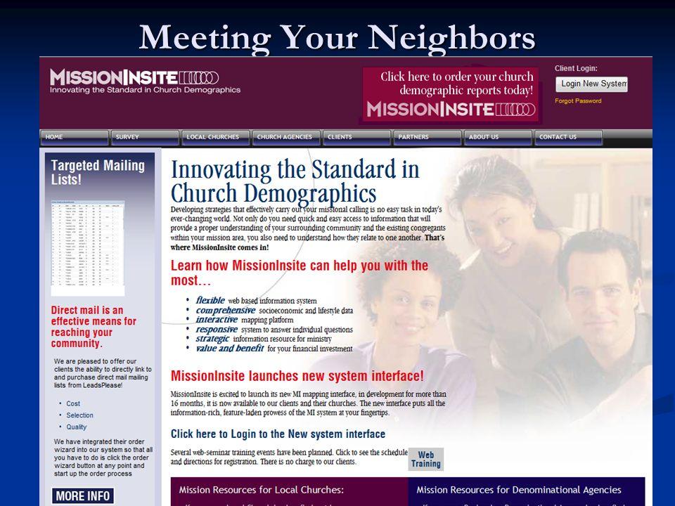 Meeting Your Neighbors