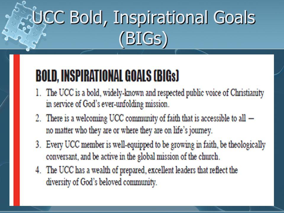 UCC Bold, Inspirational Goals (BIGs)