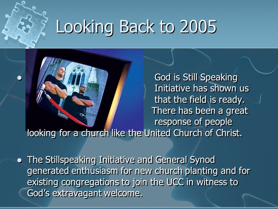 Looking Back to 2005 God is Still Speaking Initiative has shown us that the field is ready. There has been a great response of people looking for a ch