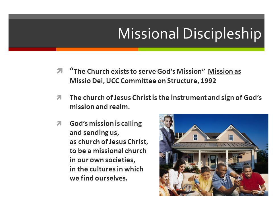 Missional in Purpose Vital disciples clear sense of purpose Vital disciples are sent people Vital disciples reach out beyond themselves reclaim Biblical focus on neighbors Vital disciples multiply new disciples/ministries/congregations