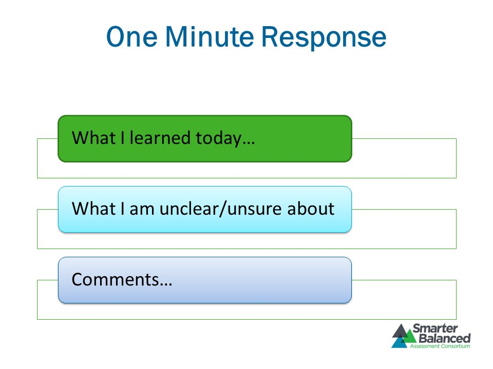 One Minute Response