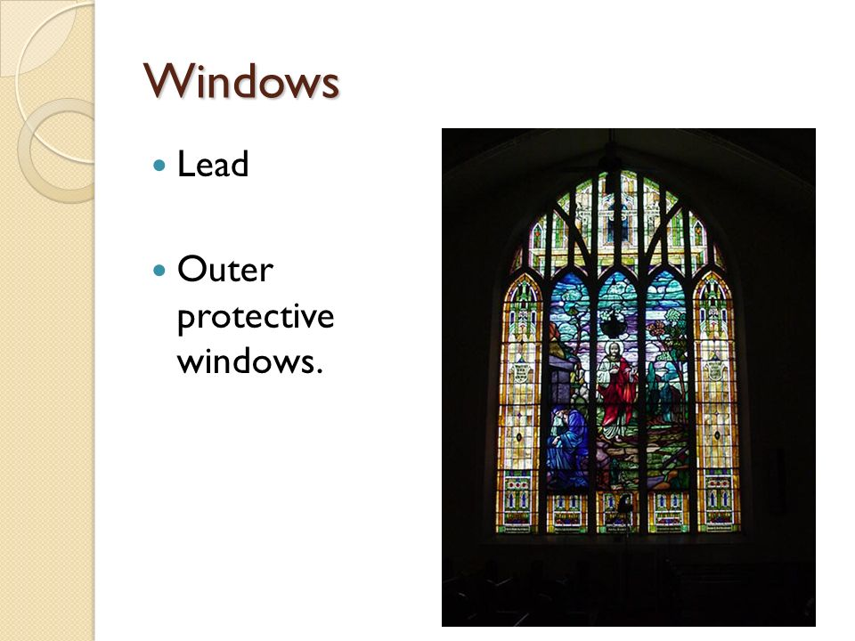 Windows Lead Outer protective windows.