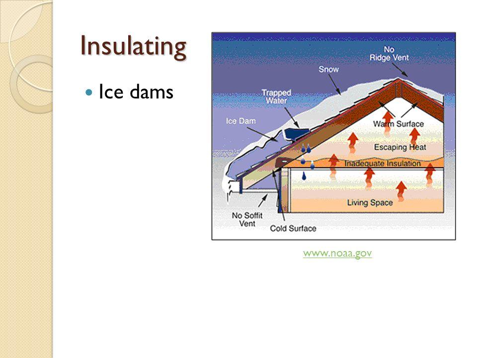 Insulating Ice dams www.noaa.gov
