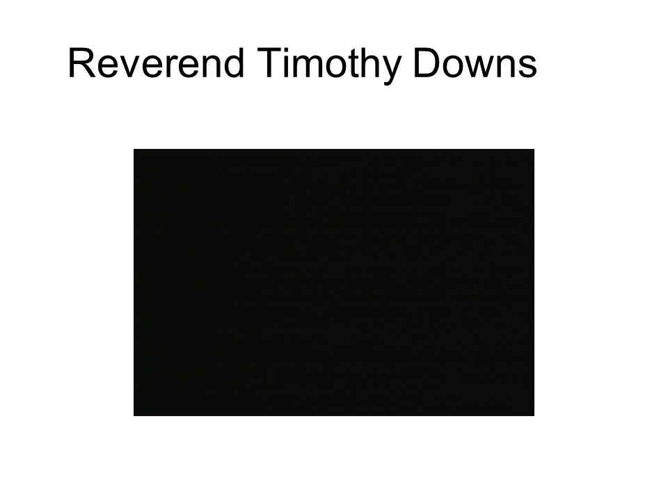 Reverend Timothy Downs