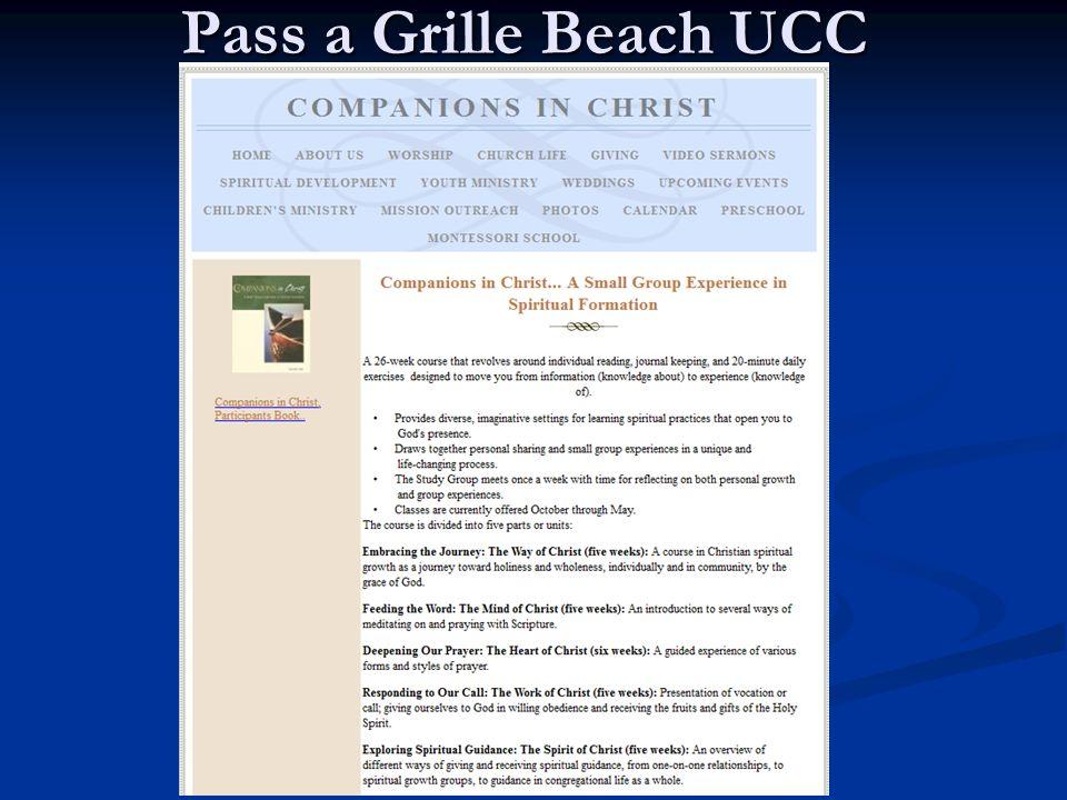 Pass a Grille Beach UCC