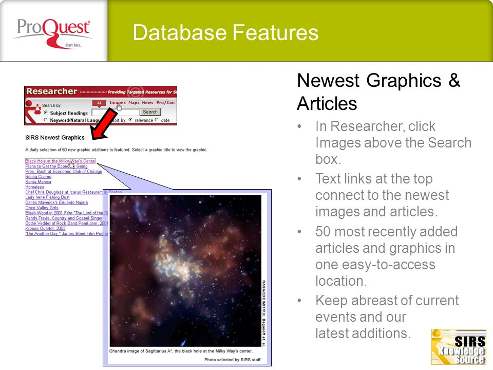 Database Features Top stories updated daily.