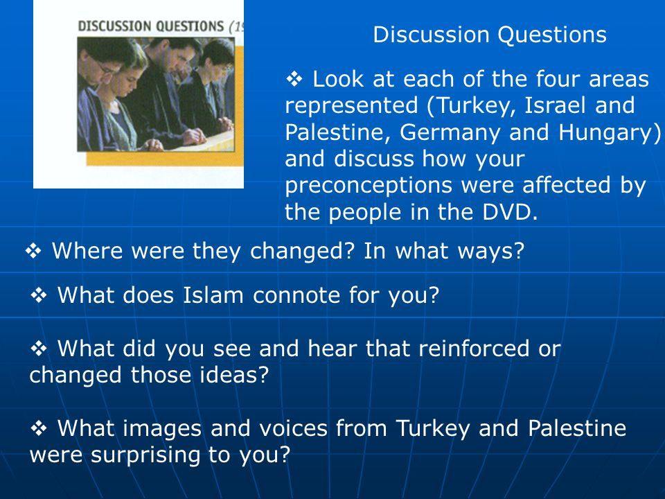 Discussion Questions How do you understand the relationship between interfaith relations and mission.