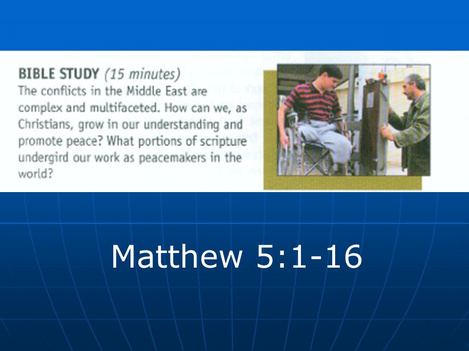 Matthew 5:1-16