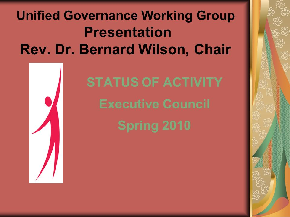 Unified Governance Working Group Presentation Rev.