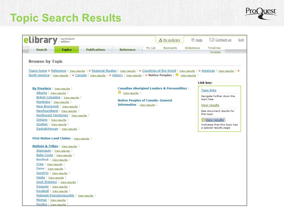 Topic Search Results
