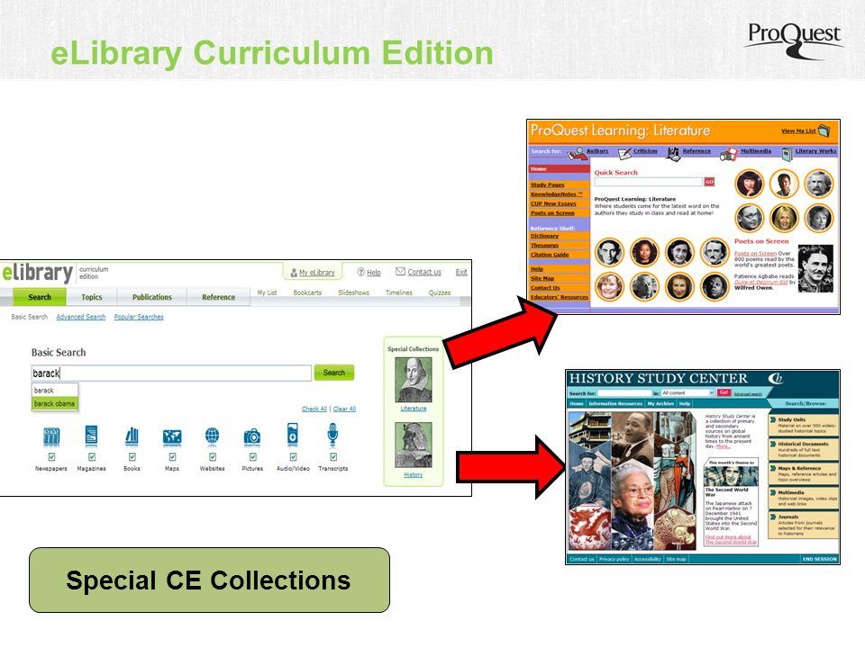 eLibrary Curriculum Edition Special CE Collections