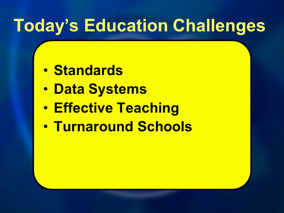 Standards Data Systems Effective Teaching Turnaround Schools Todays Education Challenges