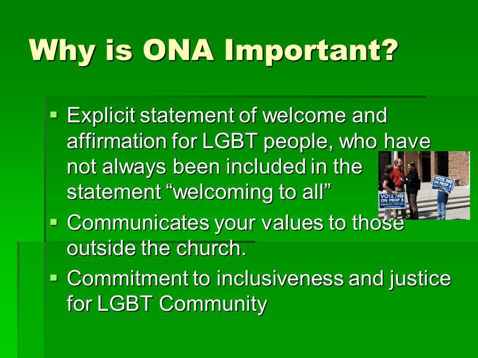 Why is ONA Important.