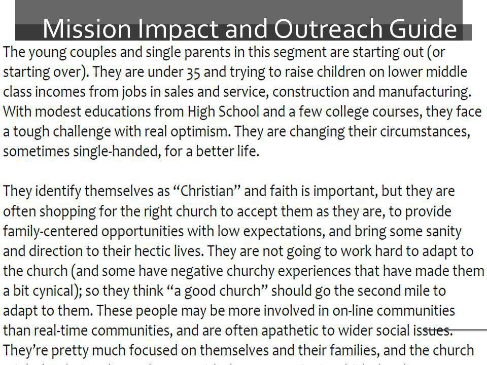 Mission Impact and Outreach Guide