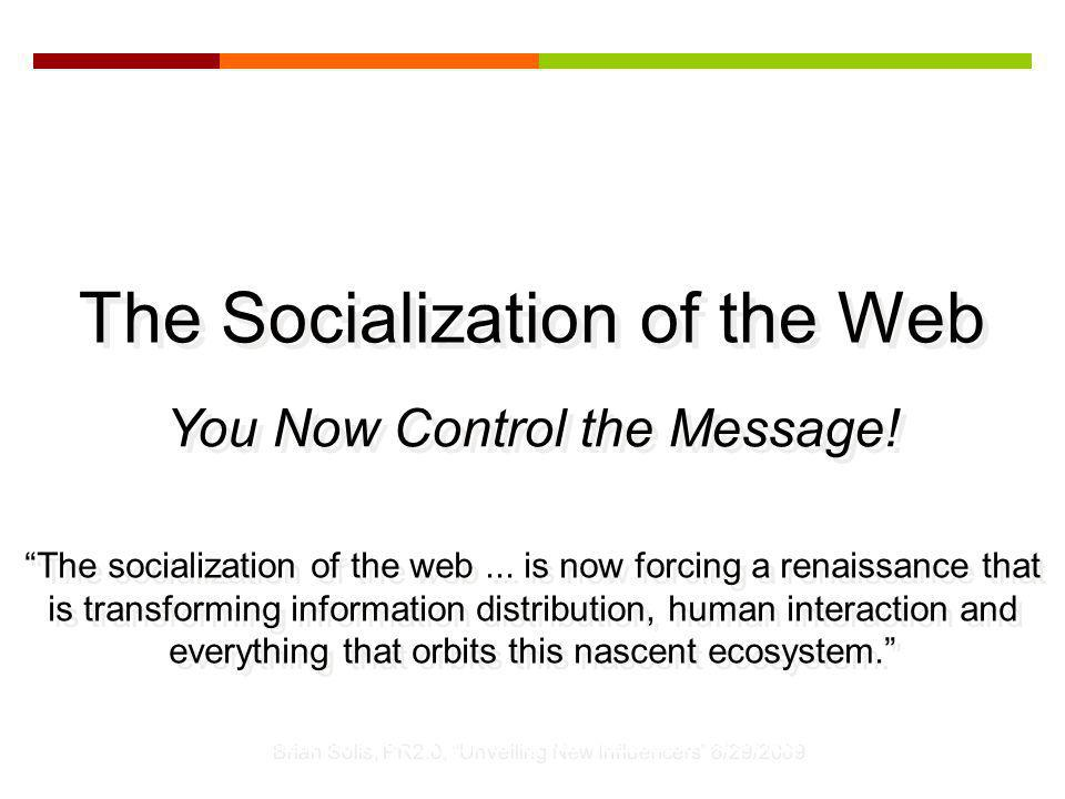 The socialization of the web...