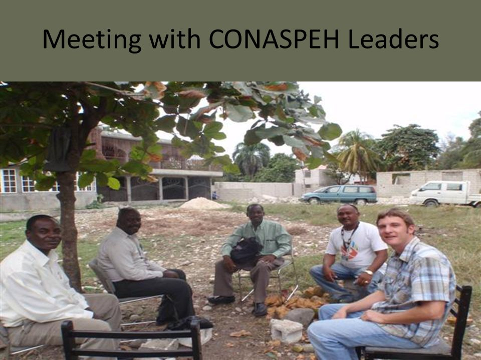 Meeting with CONASPEH Leaders