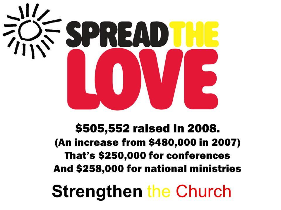 $505,552 raised in 2008.