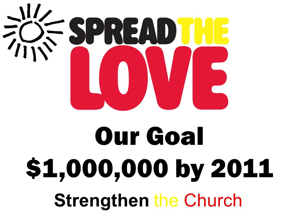 Strengthen the Church Our Goal $1,000,000 by 2011