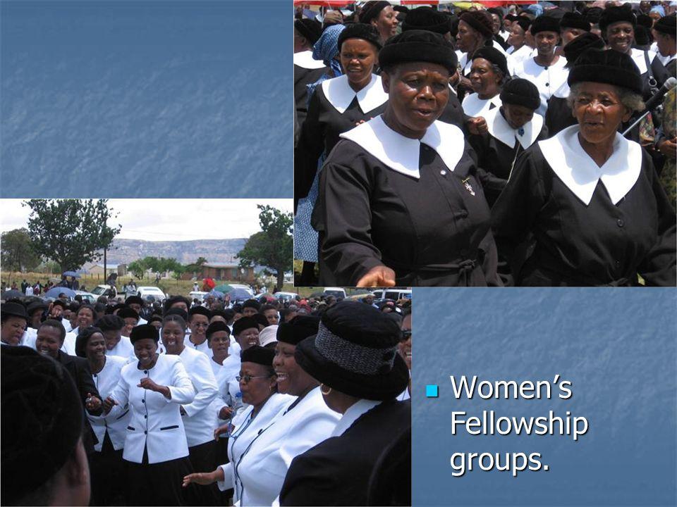 Womens Fellowship groups. Womens Fellowship groups.