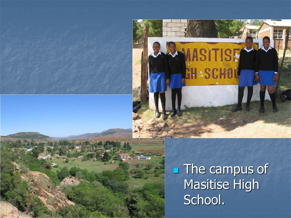 The campus of Masitise High School. The campus of Masitise High School.
