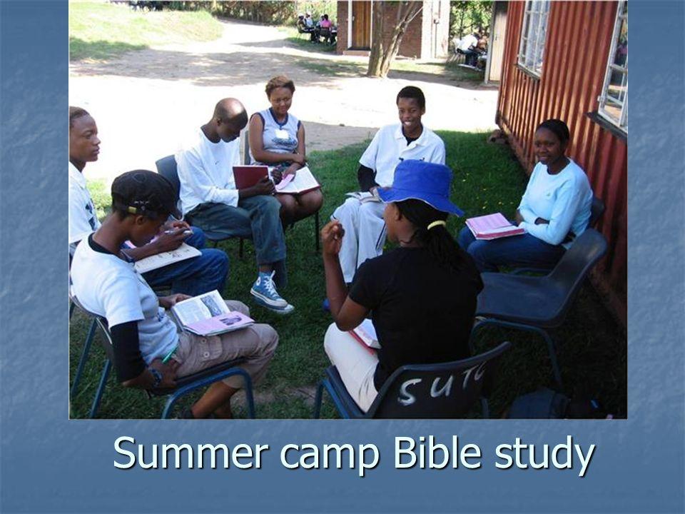 Summer camp Bible study