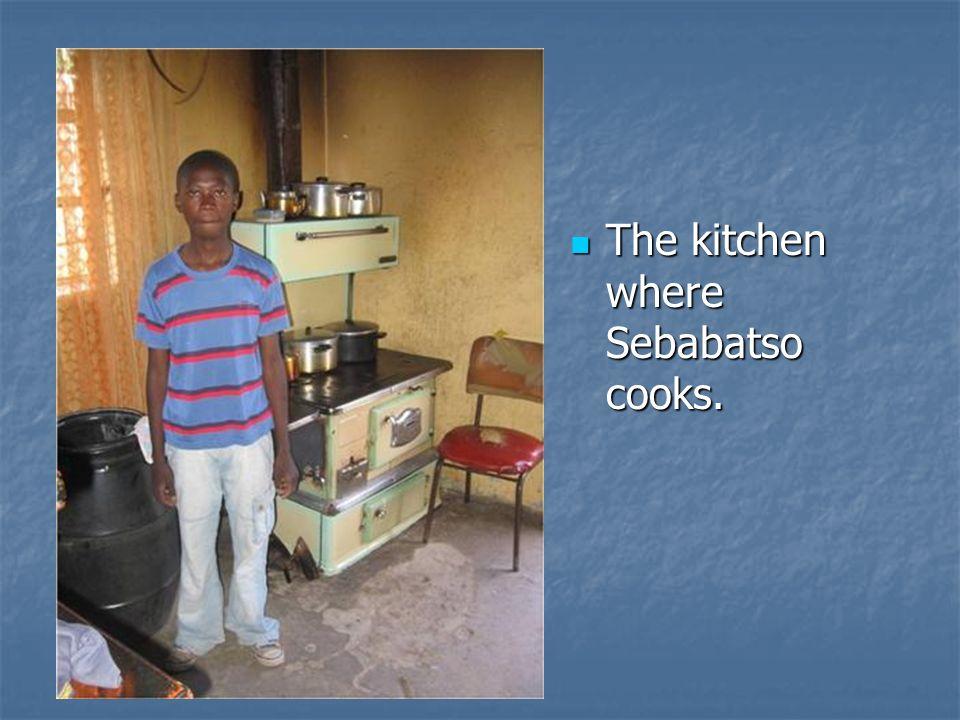 The kitchen where Sebabatso cooks. The kitchen where Sebabatso cooks.