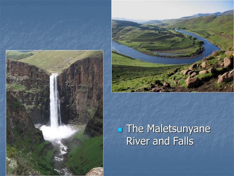 The Maletsunyane River and Falls The Maletsunyane River and Falls