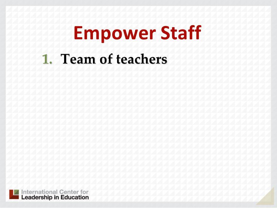 Empower Staff 1.Team of teachers