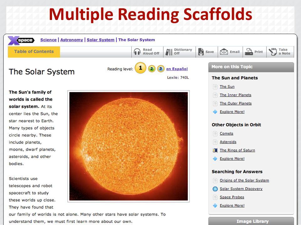 Multiple Reading Scaffolds