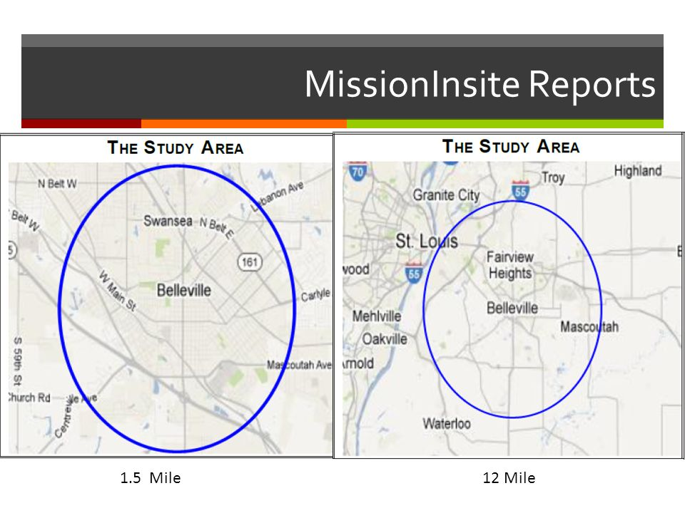 MissionInsite Reports 1.5 Mile 12 Mile